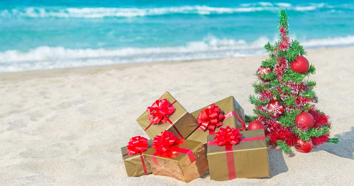 Christmas beach vacation